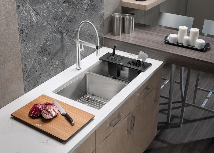 Quat-ro Blanco Stainless Steel Sink