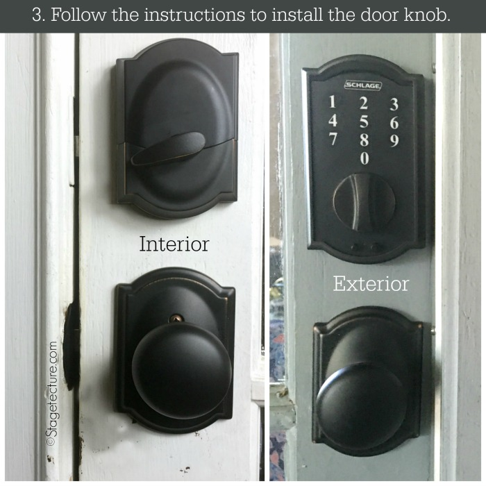 schlage keyless home security directions