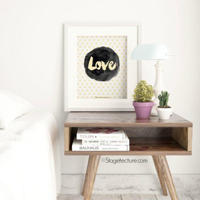 Popular Home Decor Shop Burlap and Succulents Love Artwork