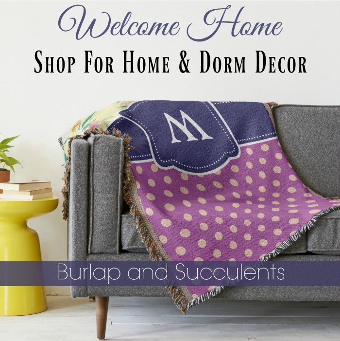 home decor shop burlap and succulents