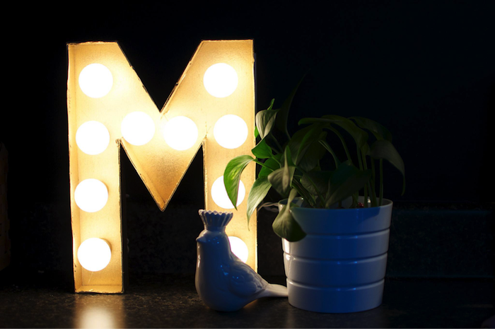 decorative lamp monogramp