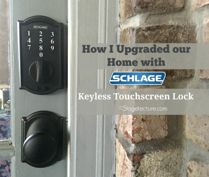 schlage keyless touchscreen lock stagetecture