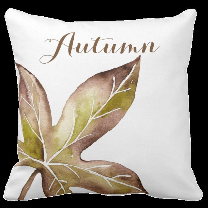 fall leaf throw pillows