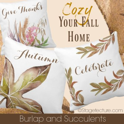 Thanksgiving Entertaining and Dinner with Burlap and Succulents Shop