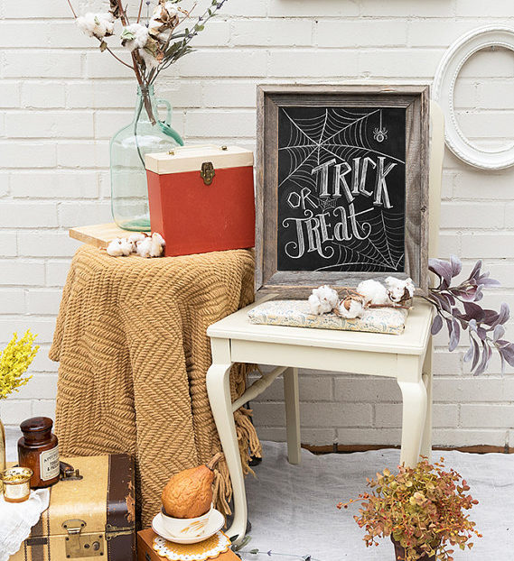 halloween decorations chalkboard - Craft Halloween Decorations