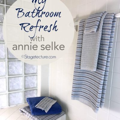 Giving Our Bathroom a Fall Refresh with Annie Selke Bath Towels