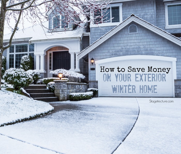 winter home how to save money exterior