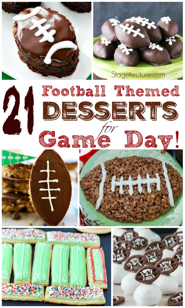 football themed desserts game day