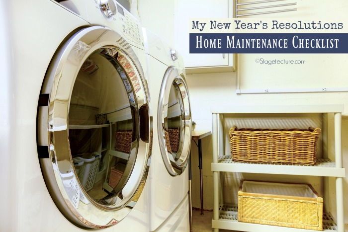 laundry room home maintenance checklist