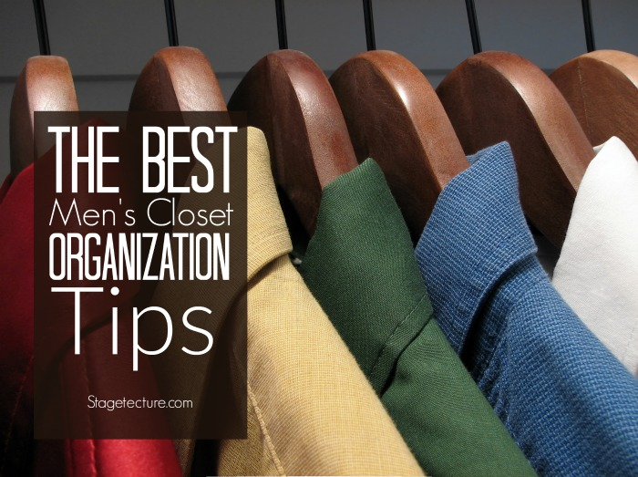 mens closet organization tips ideas