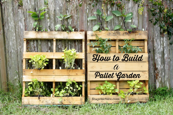 4 steps to beautiful pallet garden ideas for Pallet veggie garden