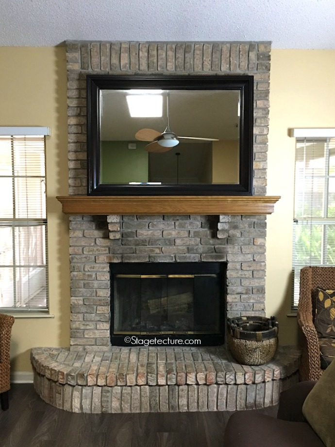 bare fireplace mantel decorating