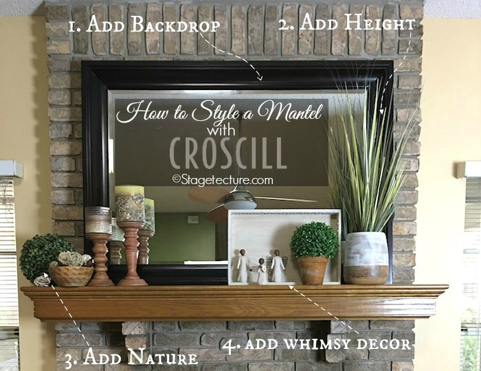 4 Easy Fireplace Mantel Decorating Ideas with Croscill -