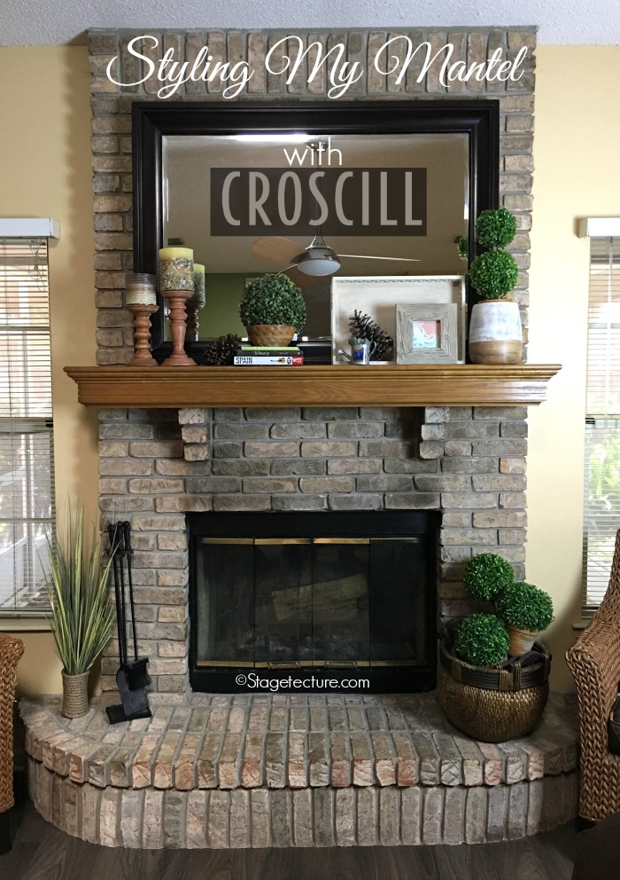 4 Easy Fireplace Mantel Decorating Ideas with Croscill. See how to use a backdrop