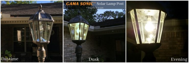 Gama Sonic Solar Lamp Post Before After