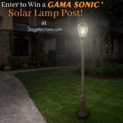 Gama Sonic Solar Lamp #Giveaway: See How I Enhanced My Outdoor Lighting
