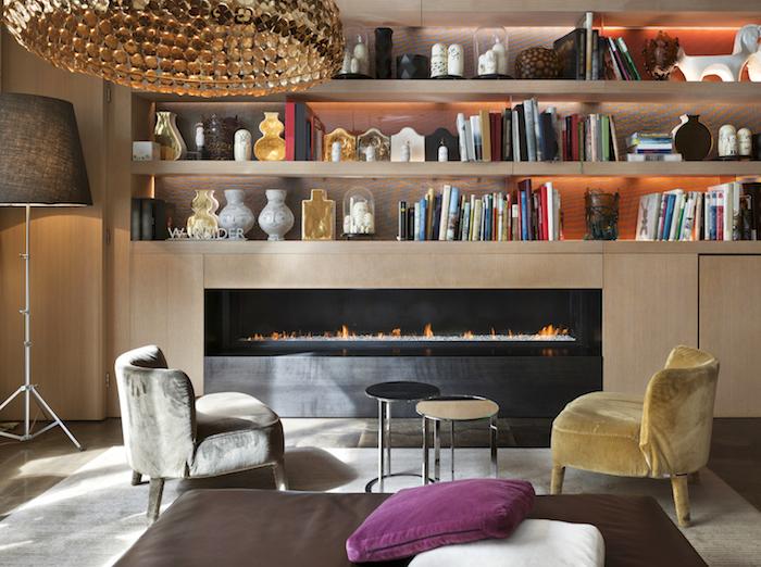wallpaper ideas bookshelf