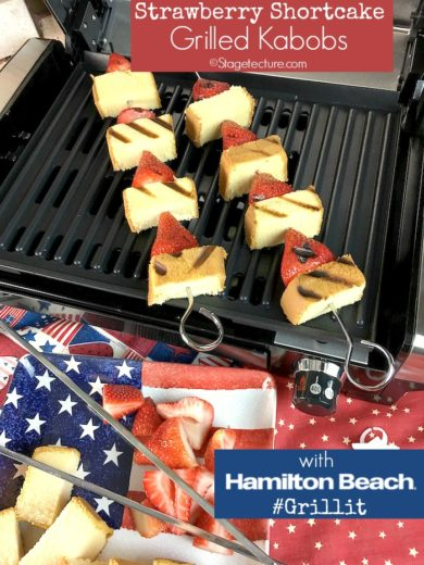 My Hamilton Beach Strawberry Shortcake Grilled Fruit Kabobs Dessert Recipe
