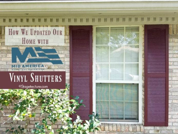 How We Updated our Home's Exterior Design with Mid-America Vinyl Shutters