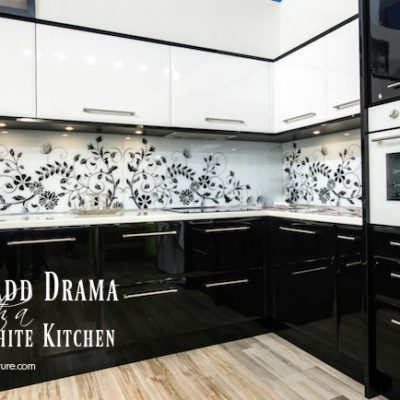How to Add Drama with a Black and White Kitchen