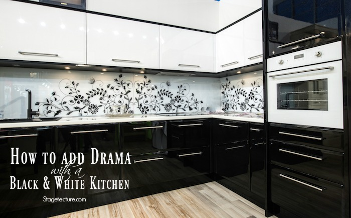 How to Add Drama with a Black and White Kitchen & How to Add Drama with a Black and White Kitchen -