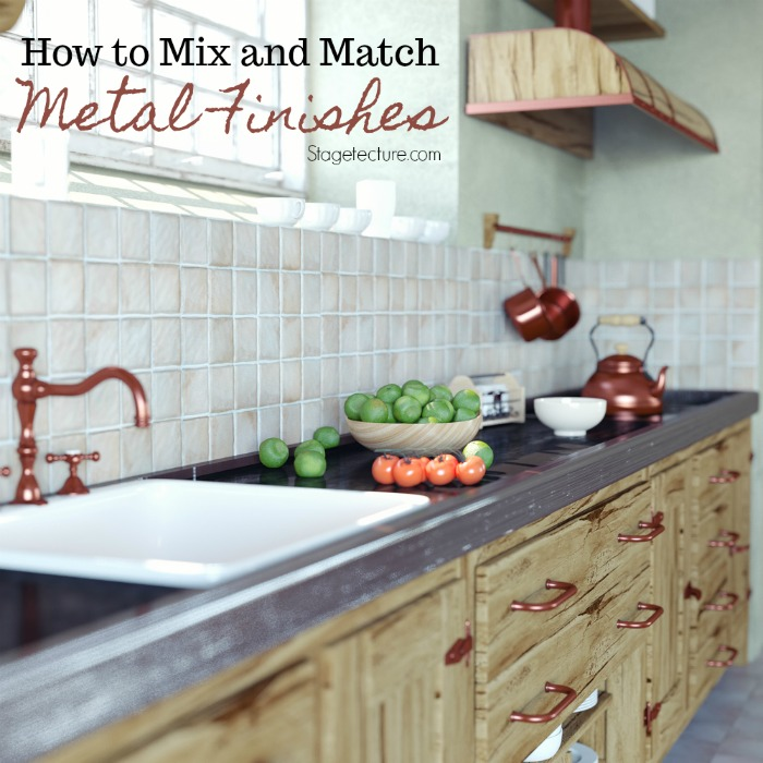 mixing metal finishes home decor