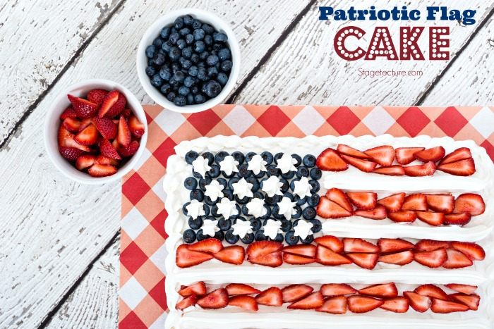 patriotic cake berries