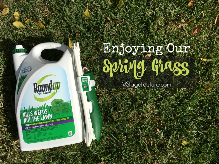 spring grass roundup lawns