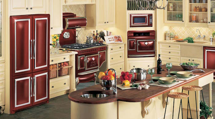 Retro kitchen red Elmira Stoves