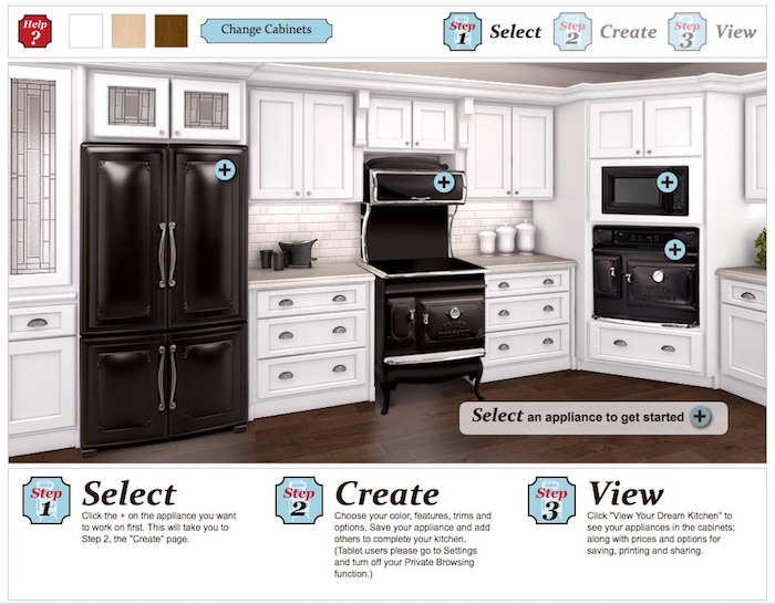 Retro Appliances Create Custom Kitchen