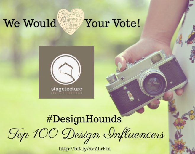 Vote for Stagetecture: #DesignHounds Top 100 Design Influencers for 2018