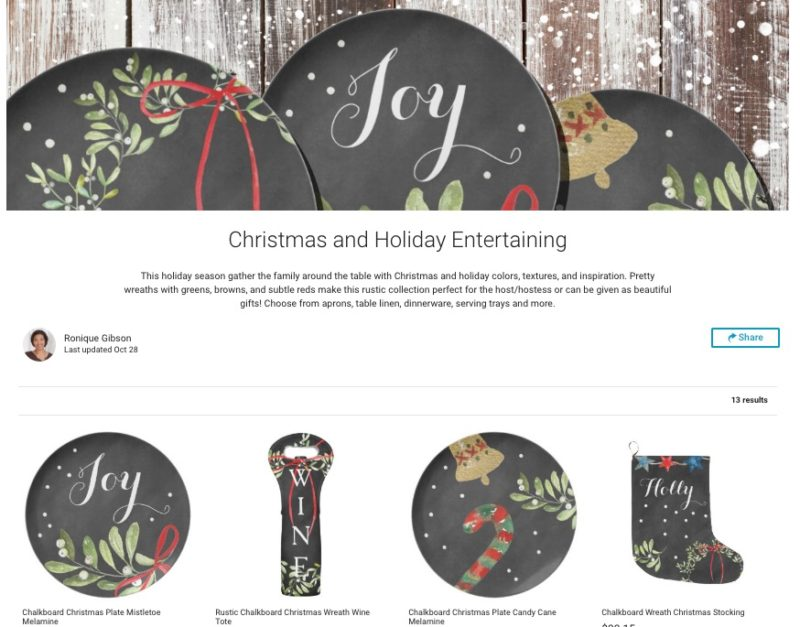 zazzle holiday entertaining collection