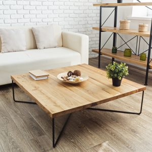 Easy-to-Clean Wood Coffee Table