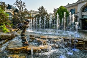 Fountain in Meridian Idaho.