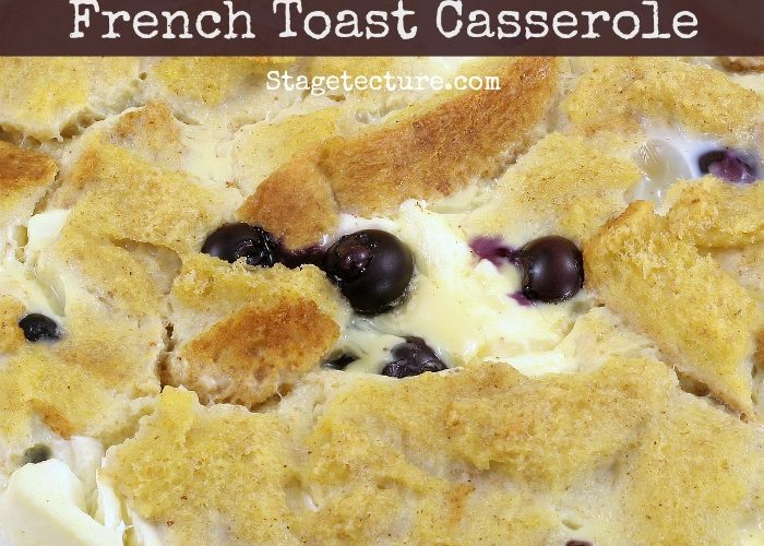 Holiday Brunch: Overnight Blueberry French Toast Recipe